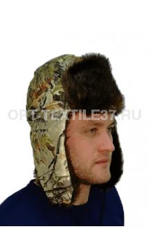 Шапка-ушанка лес