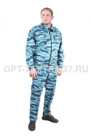 Костюм охранника синий камуфляж