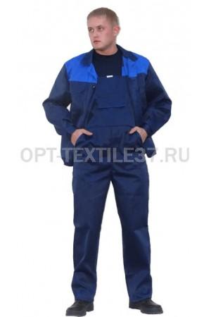 Костюм рабочий с полукомбинезоном и курткой.