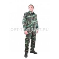 Костюм охранника зелёный камуфляж