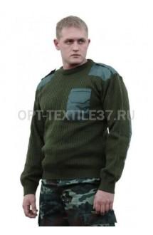 Форменный свитер зелёный