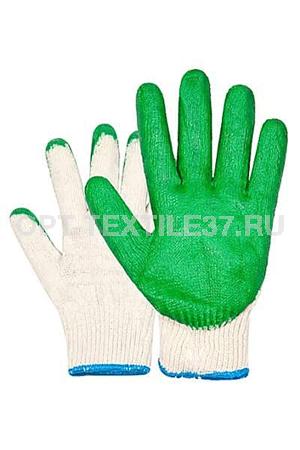 Перчатки облитые латексом.
