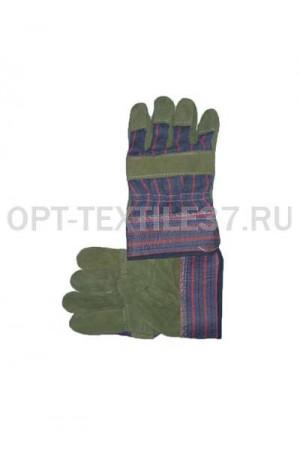 Перчатки комбинированные со спилком.