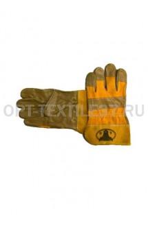 Перчатки комбинированные кожа