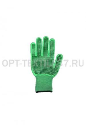 Перчатки нейлоновые пвх точка.